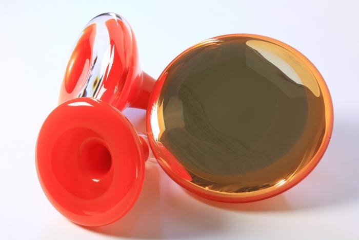 V8designers glass is tomorrow - patère en verre coloré et argenté