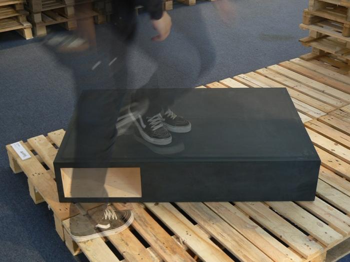 V8designers dancefloor - dancefloor table basse sapin et caoutchouc