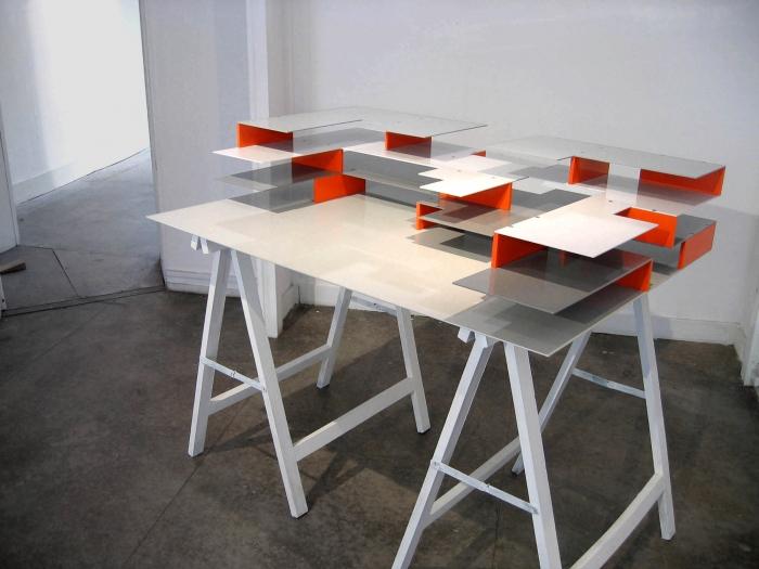 V8designers v8+1 - Set de bureau, assemblage d'éléments en aluminium thermolaqué