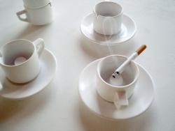 V8designers café clope - café clope : tasse à café cendrier
